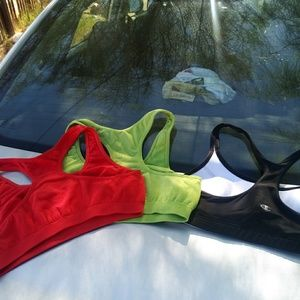 Three Champion bras